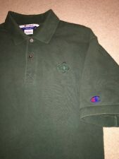 Vintage Champion Polo Shirt Green Chest Sleeve Logo Large Hong Kong EUC 90's