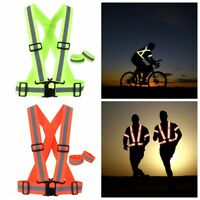 Reflective Adjustable Safety Security High Visibility Vest Gear Stripes Jacket