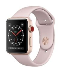 APPLE WATCH SERIES 3 38MM GOLD ALUMINIUM PINK SAND SPORT GPS + CELLULAR 4G