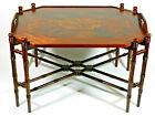 Antique Mahogany Tray Table Coffee Table