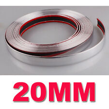 20 mm (2 Cm) X 7.5 M Tira Estilo De Coche Cromo Adhesivo Trim moldeo vendedor de Reino Unido