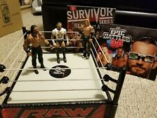 WWE Mattel action figure and ring lot. CM Punk, Roman Reigns, Heath Slater.