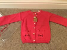 Joules Baby Girl Dorrie Warm Pink Cat Cardigan, Age 2-3 - Brand New With Tag