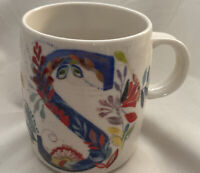 "Starla M. Halfmann Anthropologie Letter Initial Monogram ""S"" Mug Cup."