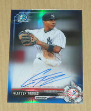 2017 Bowman (Chrome) prospect BLUE refractor autograph Gleyber Torres 31/150