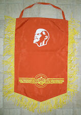 Soviet Russian authentic Banner flag Pennant Communist PROPAGANDA USSR