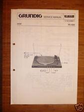 manuels de réparation Grundig PS 4200 tourne-disque, original