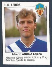 PANINI FUTBOL 93-94 SPANISH -#384-U.D.LERIDA-ALBERTO AGUILA LAJANA