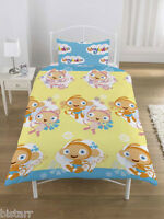 WAYBULOO DUVET COVER AND PILLOW CASE SET SINGLE BED ROTARY KIDS CARTOON DESIGN