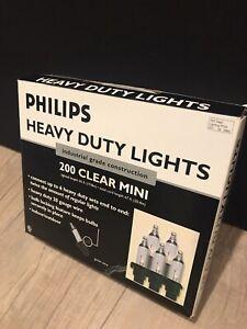 Philips Heavy Duty Lights 200 Clear Mini Industrial Grade Construction, New