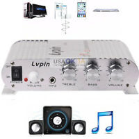Mini Hi-Fi 2.1 Amplifier Booster Radio MP3 Stereo 20W for Car Motorcycle Home