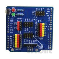 Expansion IO Board Sensor Shield Compatible Fr Arduino UNO/Leonardo/Mega2560 New
