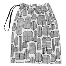 John Lewis MissPrint Little Trees Black & White Cotton Drawstring Laundry Bag