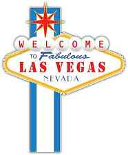 "Welcome to Fabulous Las Vegas Car Bumper Vinyl Sticker Decal 4""X5"""