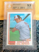 1982 TOPPS TRADED #98T CAL RIPKEN JR. Rookie RC HOF BGS 9.5 x 4 QUADS ~ PSA 10
