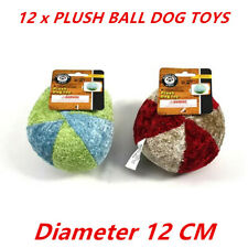 Plush Ball Dogy Toy Red Cuddle Toss Pet Puppy Squeaky Chew Soft Teeth Cat