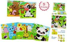 Wooden Puzzles for Toddlers 2-5 Years Old,  Jigsaw Puzzles Set for Kids, 9 Piece