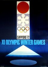 """1972 Sapporo, Japan - WINTER OLYMPIC POSTER - IOC Licensed reprint  13"""" x 18"""""""