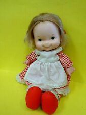 """1970s Fisher Price #200 Mary 13"""" Adorable Lapsitter Doll w/Outfit-Used"""