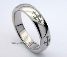 Cross Engrave Titanium Ring High Polish Wedding Band Engagement Jewely Sz 13