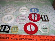 MIXED LOT of 11 Vintage Womens Belt Buckles