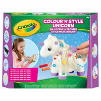 Crayola KidsFunArt  Colour n Style Unicorn Craft Kit-Includes 5 Dry Erase Marke