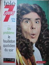 TELE 7 JOURS N° 524 JEAN LE POULAIN CERDAN JR MIREILLE MATHIEU COUSTEAU 1970
