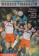 Programm 1995/96 SV Werder Bremen - Hamburger SV