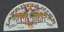 Ancienne   étiquette  Fromage Camembert Normandie  BN1904 Printanier Ange