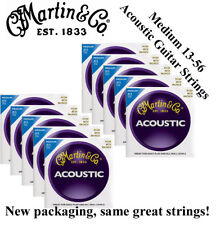 ** 10 SETS - MARTIN M150 ACOUSTIC GUITAR STRINGS MEDIUM (13-56) 80/20 BRONZE **