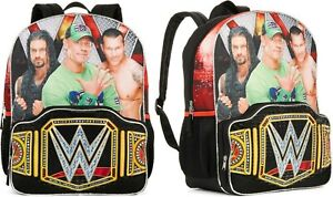 WWE John Cena Roman Reigns Randy Orton School Backpack Book Bag Boys BRAND NEW