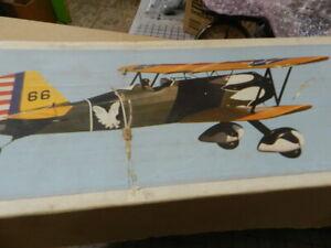 Curtiss Hawk P-6E Carl Goldberg Balsa kit Rc airplane  kit p-6e