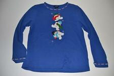 CB CASUAL UGLY CHRISTMAS FROSTY SNOWMAN SNOW BLUE HOLIDAY SHIRT SIZE LARGE