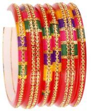 Indian Jewelry Traditional Bangles Multi Color Bangles Set Kada Fashion Jewelry