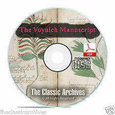The Voynich Manuscript, Mysterious Unsolved Code Cryptography Book PDF CD F12