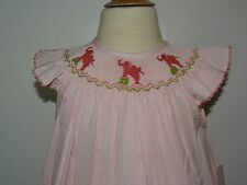 Vive La Fete Girl Smocked Bishop Pink Elephant Size 2 Short Sleeve SALE!!!SALE!!