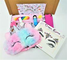Children's Girls UNICORN Themed Pamper Gift box Set Make up kit Birthday party