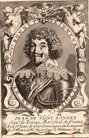 Portrait XVIIIe Jean de Saint-Bonnet de Toiras Saint Jean du Gard Louis XIII