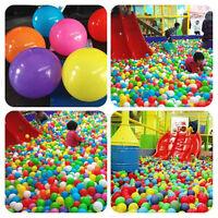 50/100/200/500X Secure Baby Kid Pit Toy Swim Fun Soft Plastic Ocean Ball NPßßßß