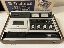 Vintage Technics RS-271US Stereo Cassette Tape Deck Player With Original Box