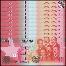 Ghana - 1 Cedi 2015 - Pick- 37F - Set 10 PSC - UNC