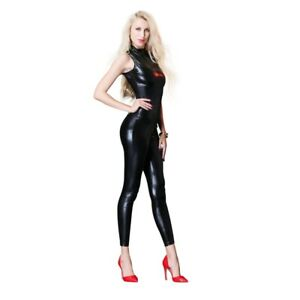 PVC Bodysuit, Wet look PVC catsuit open arms, clubwear wet look Size 14/16