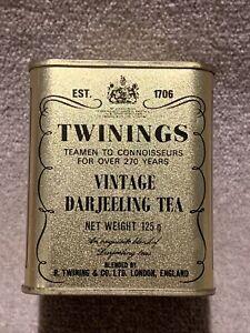 Twinings Vintage Darjeeling Tea Gold Tin 8cm ( Tin Only )