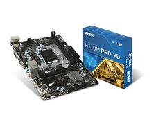 MSI H110M Pro-VD LGA 1151 Intel H110 SATA 6Gb/s USB 3.1 Micro ATX Motherboard