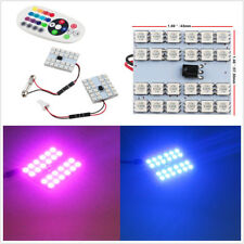 2 X RGB LED T10 5050 36SMD LED Car Panel Reading Map Lights Dome Lamps & Remote