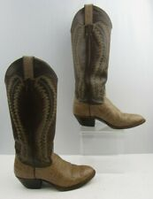 Ladies Justin Two Tone Leather Western Cogirl Boots Size : 7.5 B