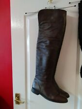 Brown Leather Thigh High Boots Size 9