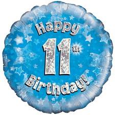 """HAPPY 11th BIRTHDAY 18"""" FOIL """"BALLOON IN A BOX"""" INFLATED"""