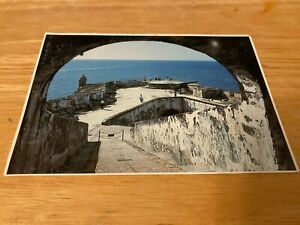 OLD San Juan Puerto Rico POST CARD 4 X 6 IN.MAIN RAMP & GUN BATTERY FORTRESS