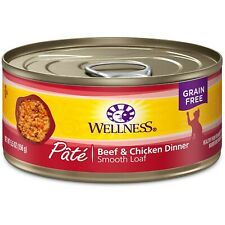 Wellness Complete Health Natural Grain Free Wet Canned Cat Food Pate Recipe 24/3